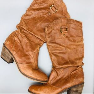 Steve Madden slouchy vegan leather cowboy boots